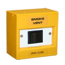 Orange Rocker Switch Call Point